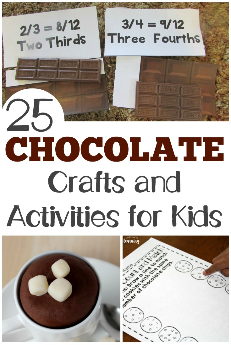 These chocolate craft ideas and activities are sweet ways to make learning fun!