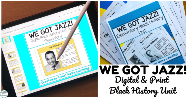 We Got Jazz Digital and Print Black History Unit