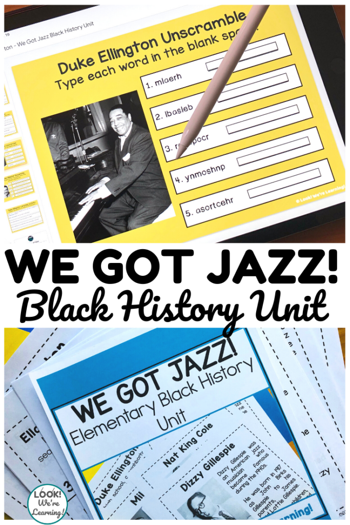 We Got Jazz Elementary Digital and Print Unit for Kids