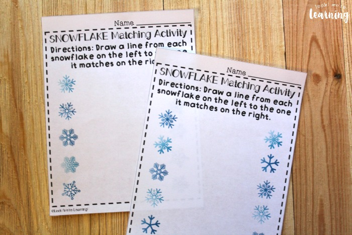 Winter Themed Matching Worksheets for Kids