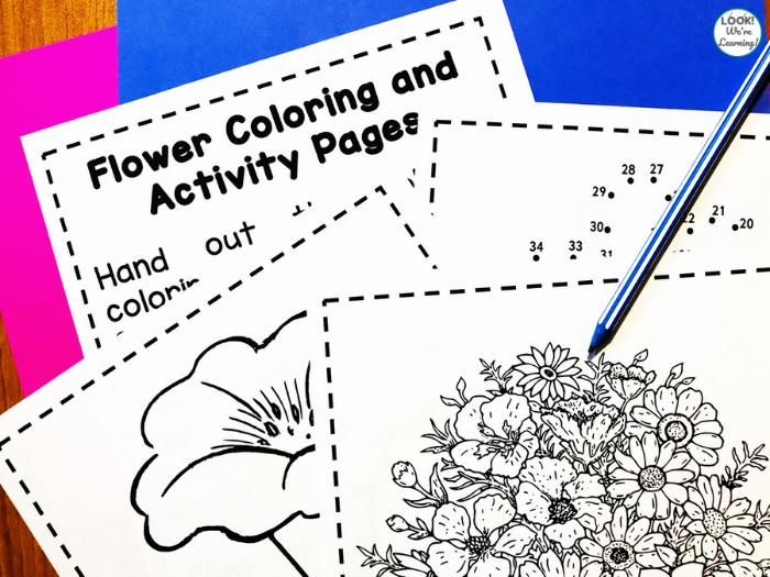 Flower Printable Activities for Kids