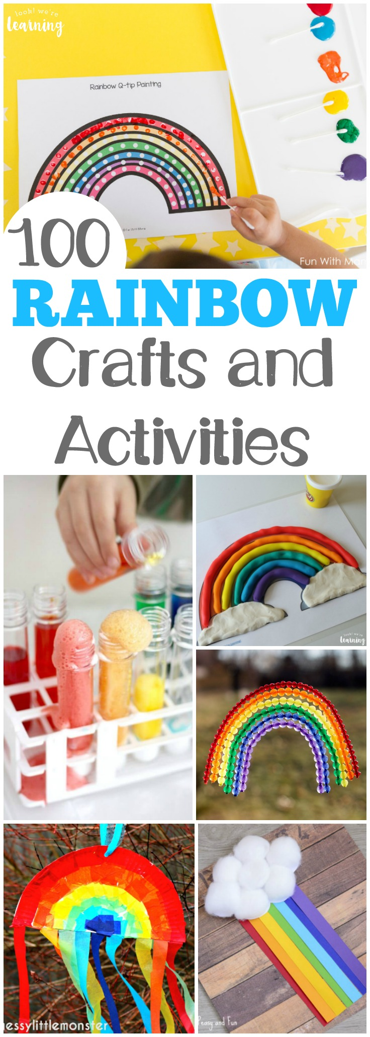 Looking for some awesome spring crafts? There are 100 rainbow activities for kids here to share this spring!