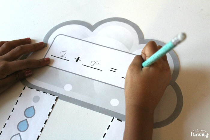 Printable Raincloud Make Ten Activity