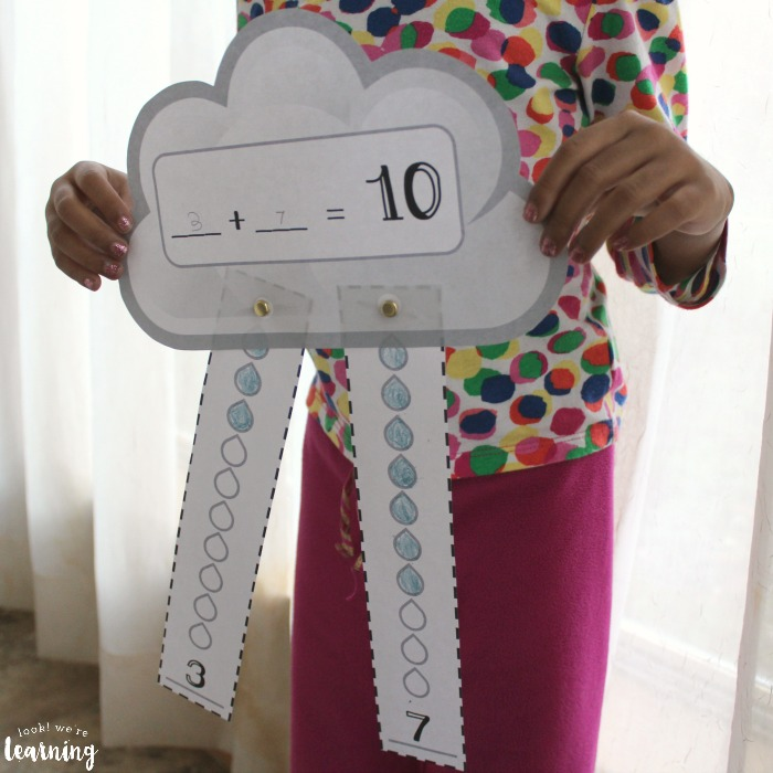 Printable Rainy Day Making Ten Activity