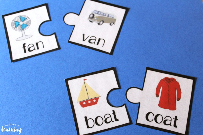 Printable Rhyming Word Puzzles
