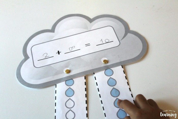 Raincloud Adding to Ten Activity