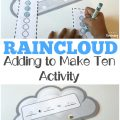 Show early learners how to add to make ten with this fun raincloud adding to make ten activity!