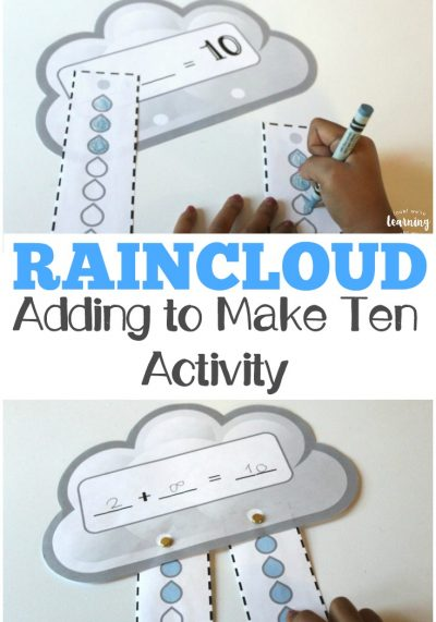 Raincloud Adding to Make Ten Activity