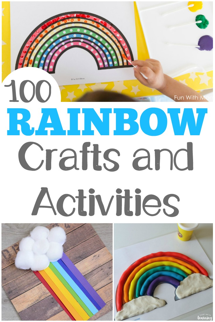 These colorful rainbow activities for kids are perfect for learning about spring weather!