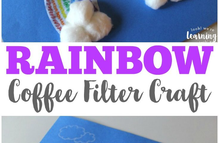 Coffee Filter Crafts for Kids: Coffee Filter Rainbow Craft