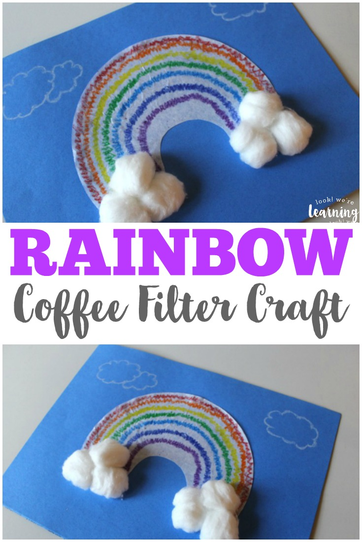 This super easy coffee filter rainbow craft is a perfect spring craft to share with little ones!