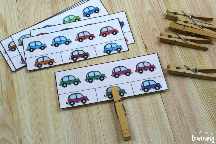 Color Car Pattern Cards for Kids