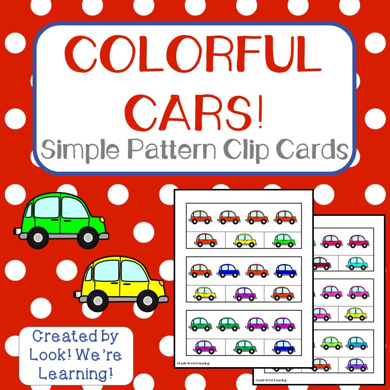 Colorful Cars Clip Card Patterns