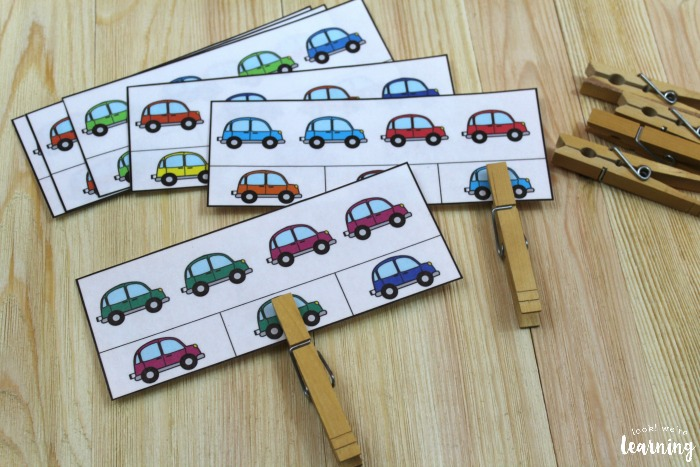 Printable Color Car Pattern Cards for Kids