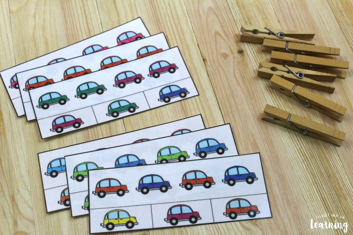 Printable Color Pattern Cards for Kids