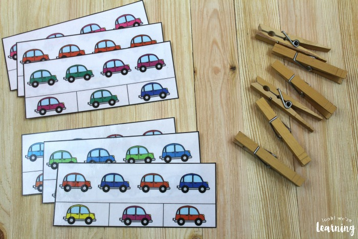 Printable Simple Color Pattern Cards for Kids