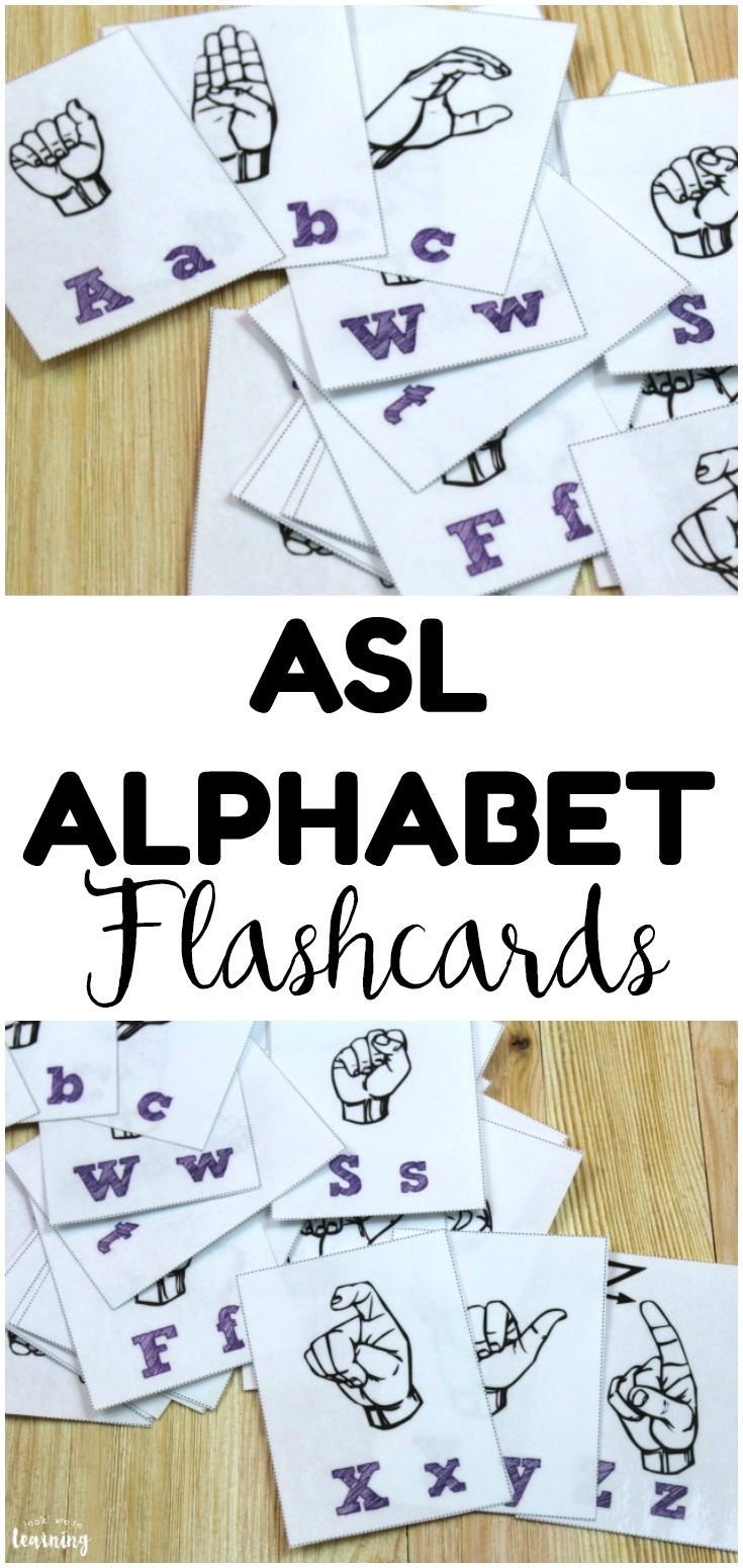 Teach kids to spell in American Sign Language with these printable sign language alphabet flashcards! Great for spelling practice too!