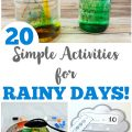 These 20 simple rainy day activities for kids are perfect for indoor fun!