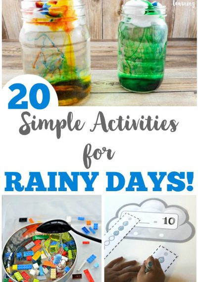 20 Simple Rainy Day Activities for Kids