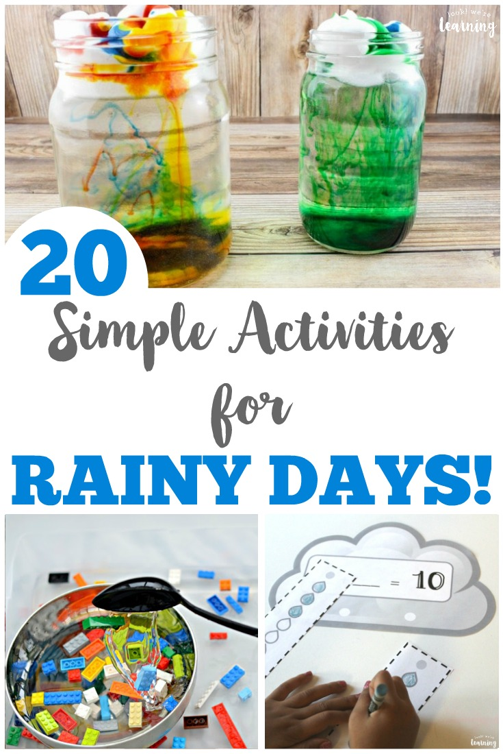 20 Simple Rainy Day Activities For Kids Look We Re Learning