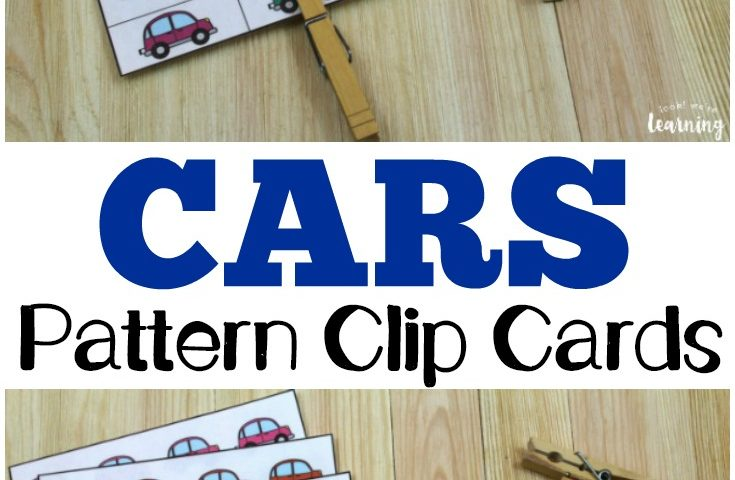 Colorful Cars Pattern Clip Cards