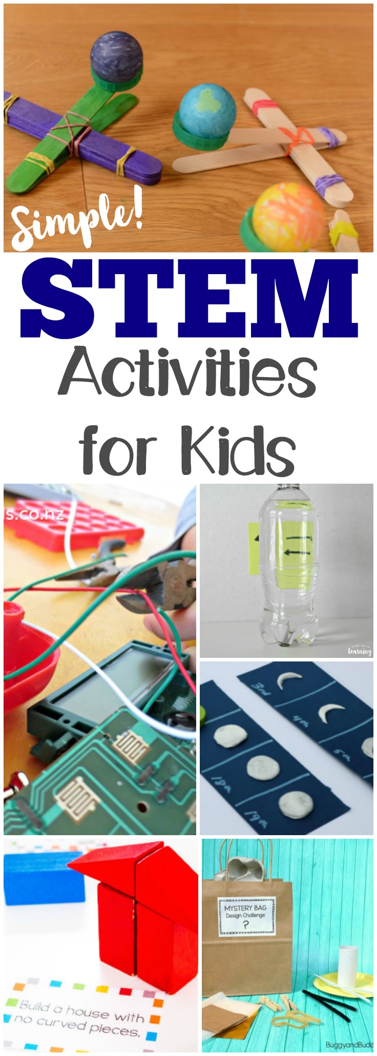 These easy STEM activities for kids are great for adding some hands-on fun to learning science, technology, engineering, and math!
