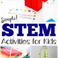 These easy STEM activities for kids are great for building enthusiasm to learn science, technology, engineering, and math!
