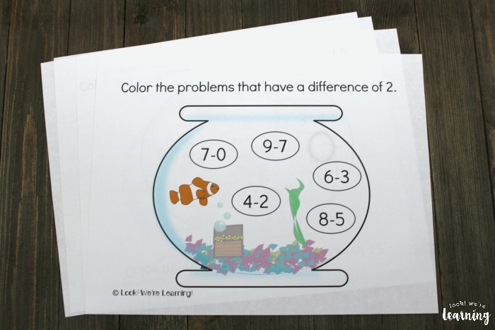 Aquarium Themed Arithmetic Printables