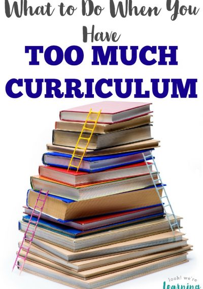Are you overloaded with homeschooling materials? Here's what to do when you have too much homeschool curriculum.
