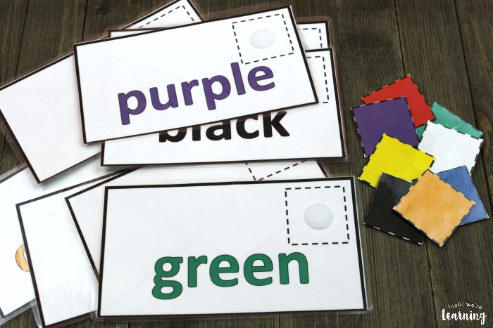 Color Sorting Mail Activity for Preschoolers