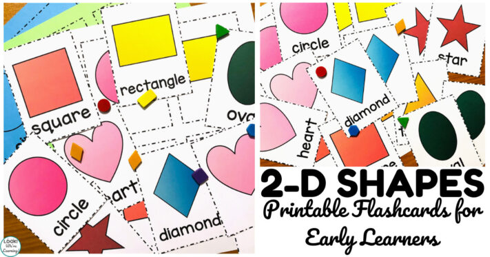 Colorful Printable Shape Flashcards for Kids