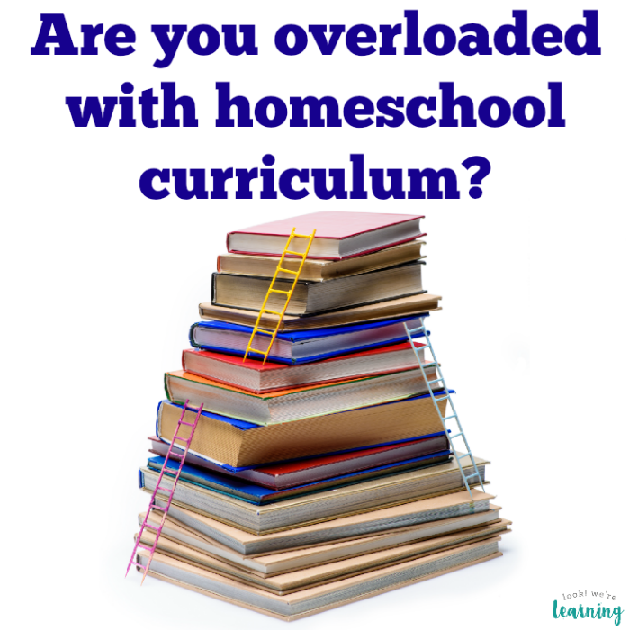 Do you have too much homeschool curriculum?