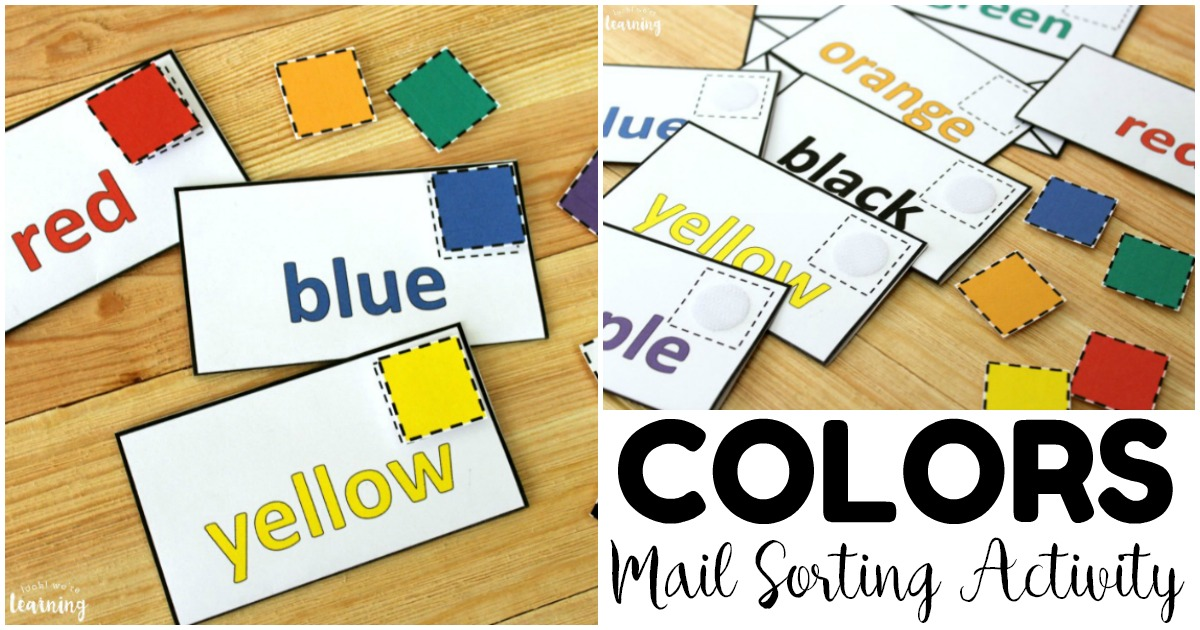 Fun Preschool Mail Color Sorting Activity
