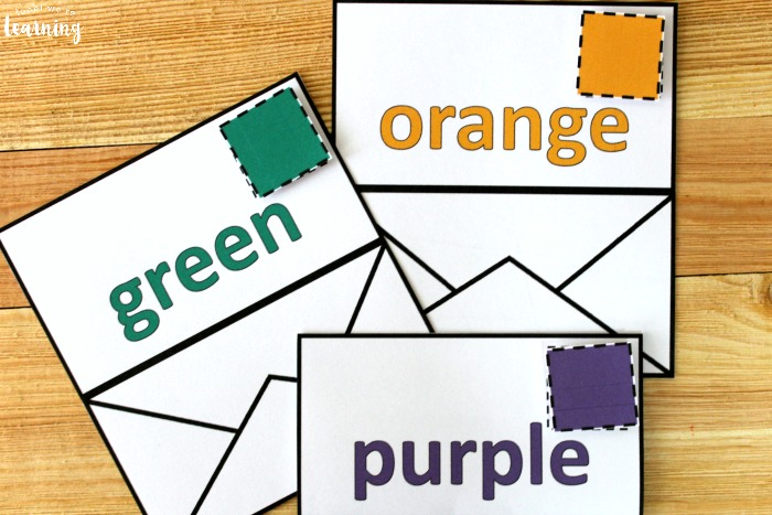 Hands On Mail Color Sorting Activity for Kids
