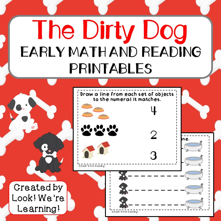 Harry the Dirty Dog Printables for Preschoolers
