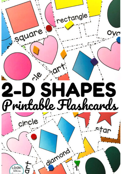 Help early learners practice recognizing shapes with these printable shape identification flashcards!