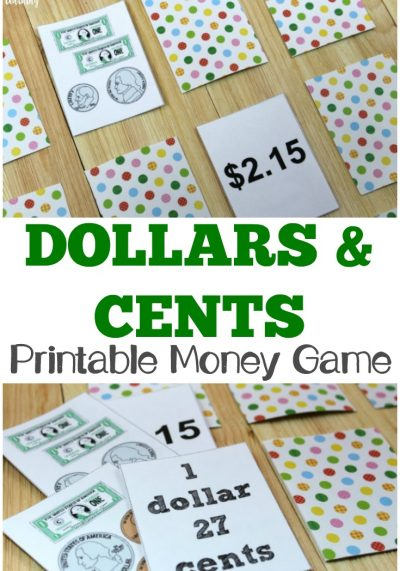 Help kids learn how to count money with this printable money game you can play at home!