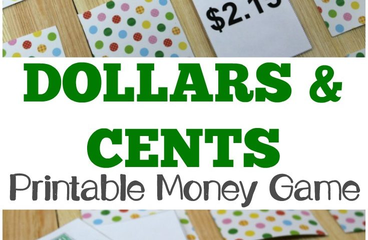 Dollars and Cents: A Printable Money Game for Kids
