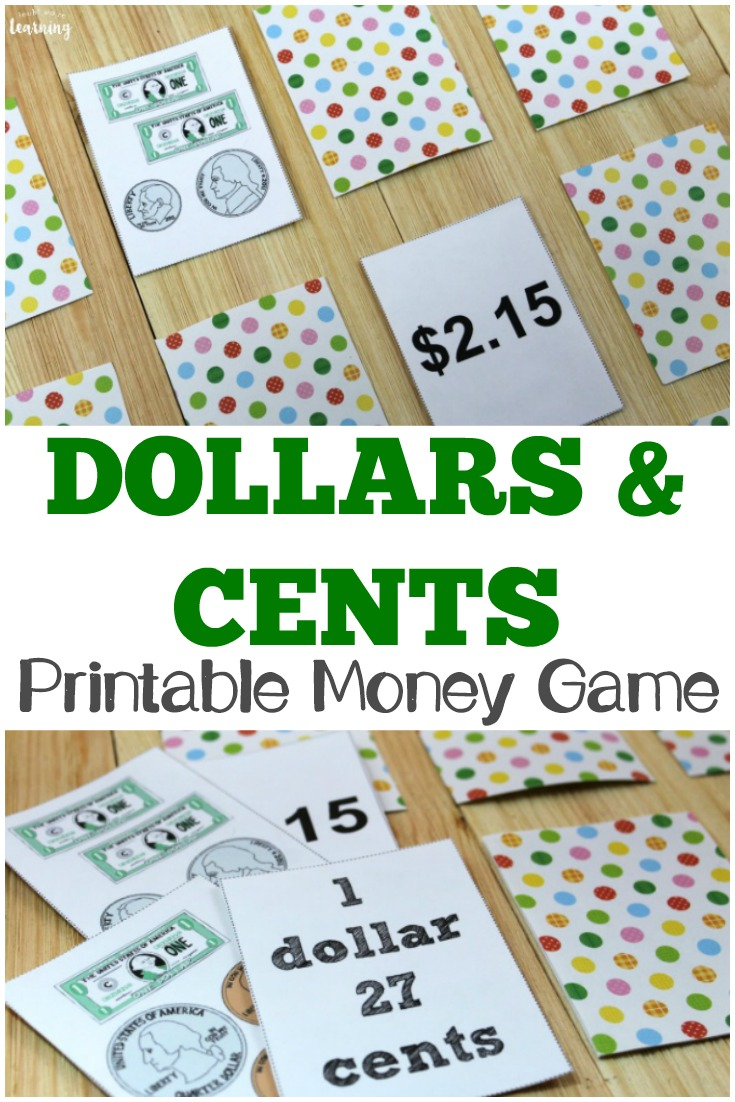 photograph about Printable Money Games named Revenue and Cents: A Printable Income Video game for Young children - Appear