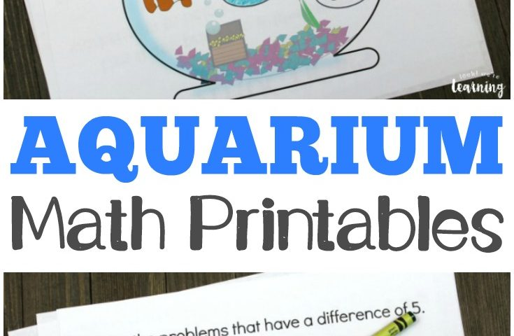 Aquarium Arithmetic Seek and Find Math Printables