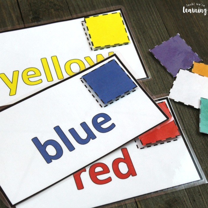 Mail Themed Color Sorting Activity for Preschoolers