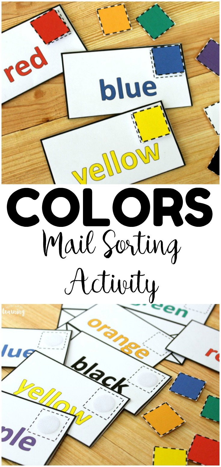 Make color recognition into a fun hands on lesson with this preschool mail color sorting activity! Great for centers and preschool morning tubs!