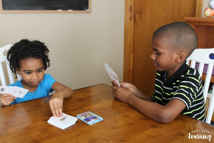 Playing Spanish Vocabulary Card Games with Foreign Languages for Kids by Kids