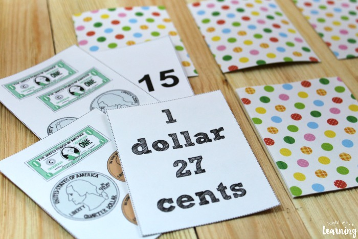 Playing a Printable Money Game for Kids