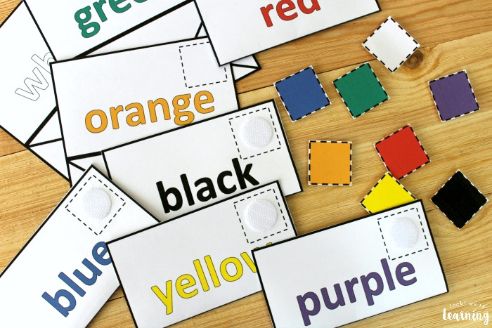 Preschool Mail Color Sorting Game