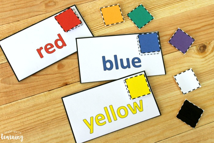 Preschool Mail Themed Color Sorting Activity for Kids