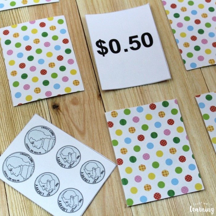 Printable Money Game for Learning Dollars and Cents