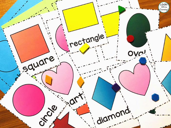 Printable Shape Flashcards for Kindergartners