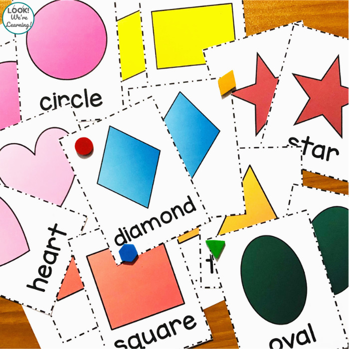 Printable Shape Flashcards for Toddlers