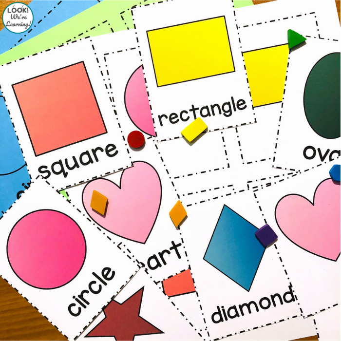 Printable Shape Identification Flashcards